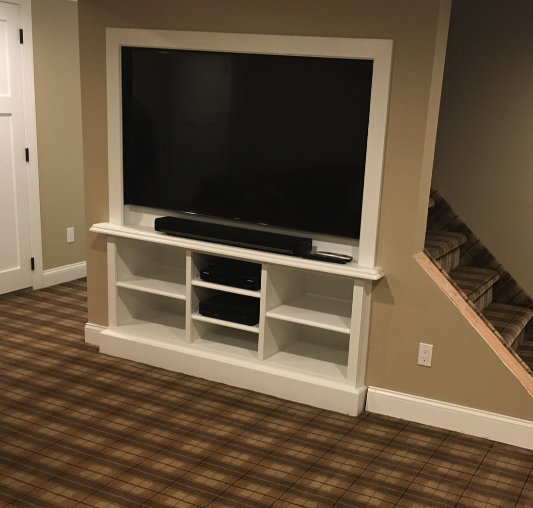 custom under stairs entertainment center-min